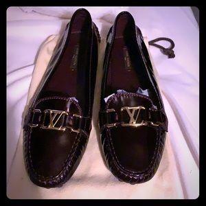 Louis Vuitton Amarante Patent Loafer Flats